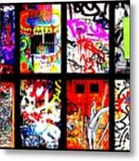 Barcelona Doors ... All Graffiti Metal Print by Funkpix Photo Hunter