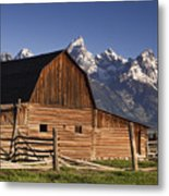 Barn In The Mountains Metal Print by Andrew Soundarajan