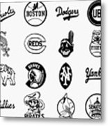 Baseball Logos Metal Print by Granger