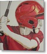 Baseball Ready 2 Metal Print by Michael Runner