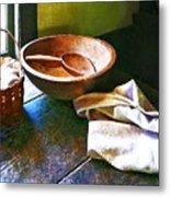 Basket Of Eggs Metal Print by Susan Savad