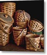 Basket Still Life 01 Metal Print by Tom Mc Nemar