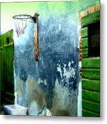 Basketball Court Metal Print by Funkpix Photo Hunter