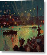 Bastille Day At Lorient Metal Print by Henry Moret