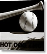 Bat And Ball Metal Print by Dave Bowman