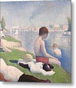Bathers At Asnieres Metal Print by Georges Pierre Seurat