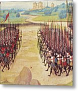 Battle Of Agincourt, 1415 Metal Print by Granger