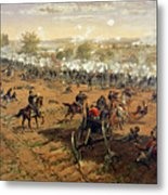 Battle Of Gettysburg Metal Print by Thure de Thulstrup