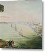 Battle Of The Nile Metal Print by Richard Barham