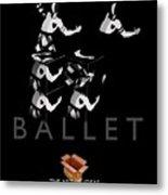 Bauhaus Ballet Black Metal Print by Charles Stuart