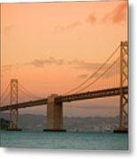 Bay Bridge Metal Print by Mandy Wiltse