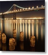 Bay Bridge Reflections Metal Print by Connie Spinardi