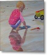 Beach Baby Metal Print by Lea Novak