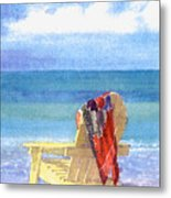 Beach Chair Metal Print by Shawn McLoughlin