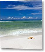 Beach Splendour Metal Print by Janet Fikar