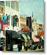 Beale Street Blues Metal Print by Suzanne Barber