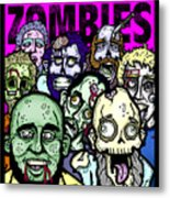 Bearded Zombies Group Photo Metal Print by Christopher Capozzi