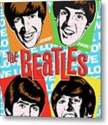 Beatles Pop Art Metal Print by Jim Zahniser