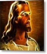 Beautiful Jesus Portrait Metal Print by Pamela Johnson