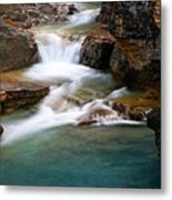 Beauty Creek Cascades Metal Print by Larry Ricker