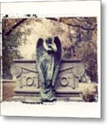 Bellefontaine Angel Polaroid Transfer Metal Print by Jane Linders