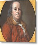 Benjamin Franklin Metal Print by Jean Valade