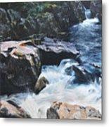Betws-y-coed Waterfall Metal Print by Harry Robertson