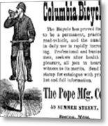Bicycle Ad, 1880 Metal Print by Granger