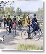 Bicycle Tourists, 1896 Metal Print by Granger