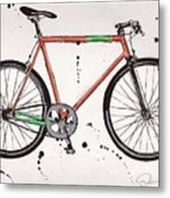 Bicyclebicyclebicycle Metal Print by Emily Jones