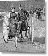 Bicycling, 1886 Metal Print by Granger