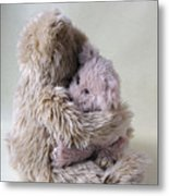Big Bear Holds Little Bear Metal Print by Ruby Hummersmith