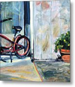 Big Red Sausalito Cruiser Metal Print by Colleen Proppe