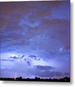 Big Sky With Small Lightning Strikes In The Distance Metal Print by James BO  Insogna