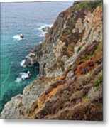 Big Sur Colorful Sea Cliffs Metal Print by Pierre Leclerc Photography