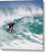 Big Wave Surfer At La Perouse Bay Maui Metal Print by Denis Dore