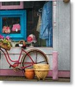 Bike - Lulu's Bike Metal Print by Mike Savad