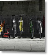 Bike Rack Metal Print by Cynthia Decker