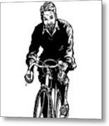 Bike Rider Metal Print by Karl Addison