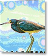 Bird Contemplates The Cosmos Metal Print by Wendy J St Christopher