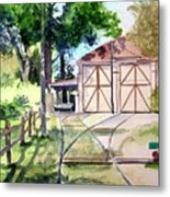 Birney Trolley Barn Metal Print by Tom Riggs