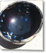 Black And Blue Bowl Metal Print by Leahblair Jackson