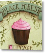 Black Forest Cupcake Metal Print by Catherine Holman