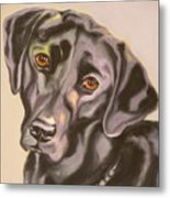 Black Lab Aint No Cure For Love Metal Print by Susan A Becker