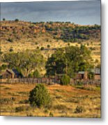 Black Mesa Ranch Metal Print by Charles Warren