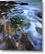 Black Point Light Metal Print by Meirion Matthias