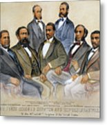 Black Senators, 1872 Metal Print by Granger