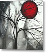 Blood Of The Moon 2 By Madart Metal Print by Megan Duncanson