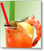 Bloody Mary Hand-crafted Metal Print by Christine Till