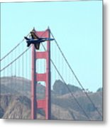 Blue Angels Crossing The Golden Gate Bridge 3 Metal Print by Wingsdomain Art and Photography